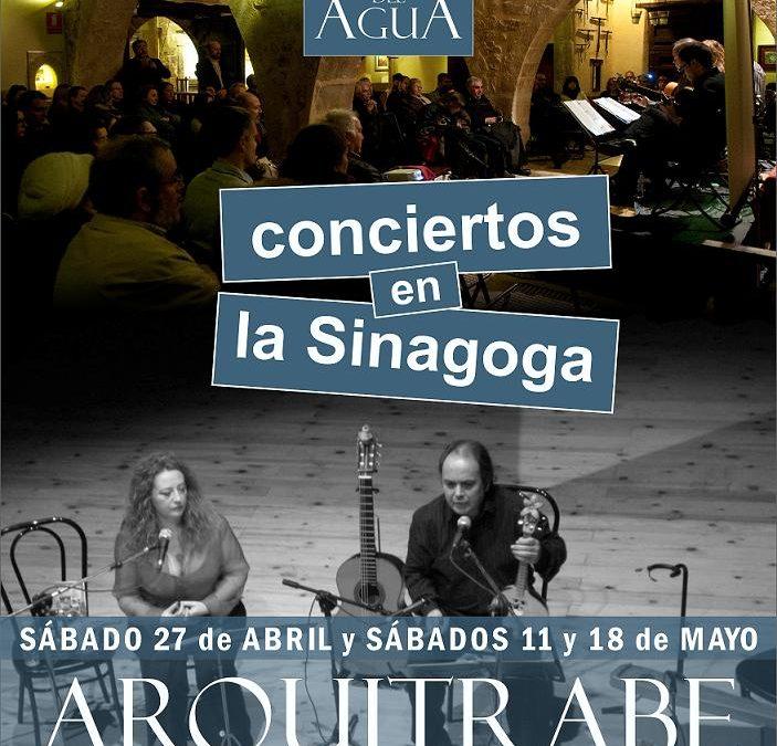 Actividades en la Sinagoga del Agua en Abril y Mayo