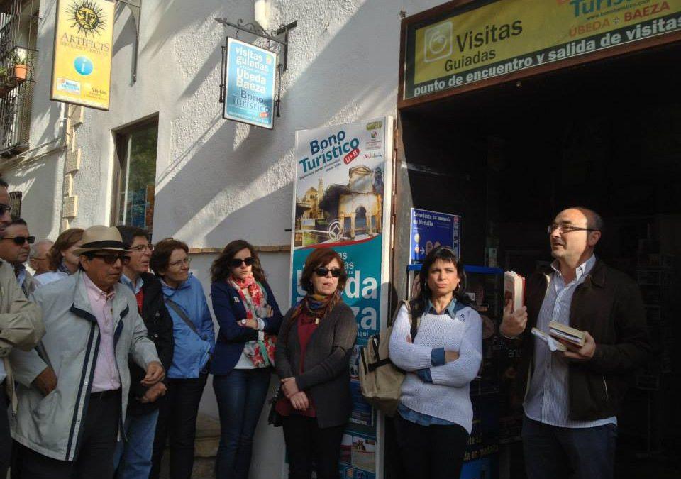 Ruta literaria y turística por la Úbeda de Antonio Muñoz Molina, el pasado sábado