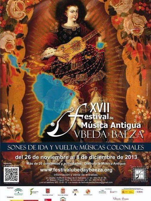 Programa para el XVII Festival de Música Antigua Úbeda y Baeza