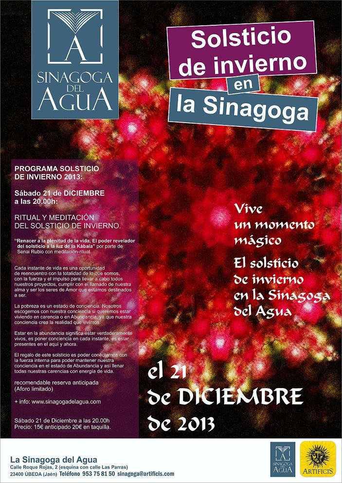 cartel SOLSTICIO INVIERNO en la sinagoga opt