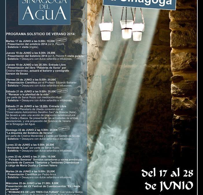El Solsticio de Verano en la Sinagoga del Agua 2014