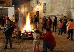 Hoguera de San Antón en Úbeda