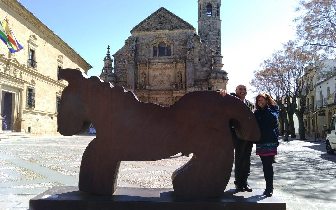 """Las """"Esculturas Monumentales"""" de Méjica visitan Úbeda."""
