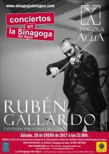 CONCIERTO de Rubén Gallardo en la Sinagoga del Agua