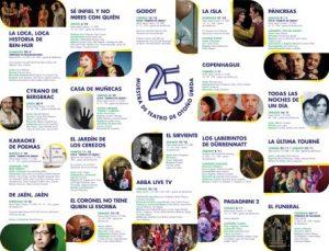 """XXV Muestra de Teatro de Otoño """"Ciudad de Úbeda"""""""
